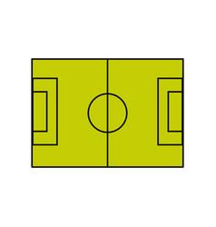 soccer field symbol vector image