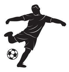 Soccer player on white background vector