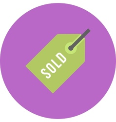 Sold Tag vector