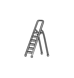 stepladder hand drawn sketch icon vector image