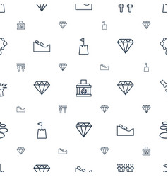 Stone icons pattern seamless white background vector