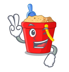 Two finger beach bucket shape the fun character vector