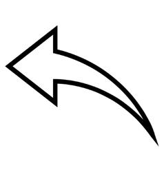 Undo Thin Line Icon vector
