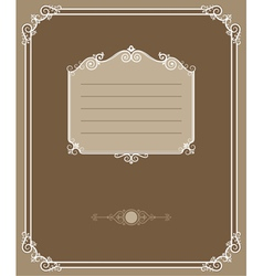 vintage cover vector image