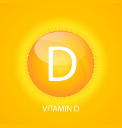 Vitamin d icon with sun vector