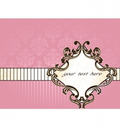 elegant french vintage label horizontal vector image vector image