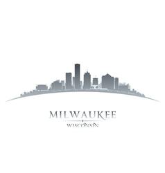 Milwaukee Wisconsin city skyline silhouette vector image vector image