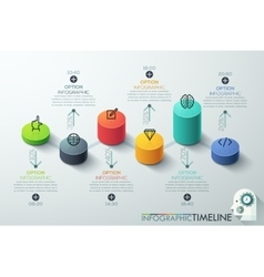 Modern business cylinder 3d style options banner vector image vector image