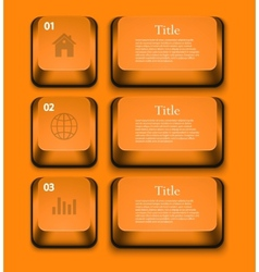 modern infographic element design Eps 10 vector image vector image