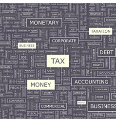 TAX vector image