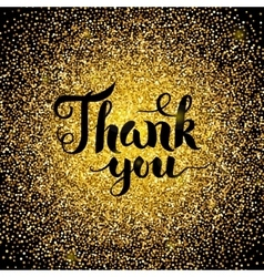 Thank You Gold Design vector image vector image