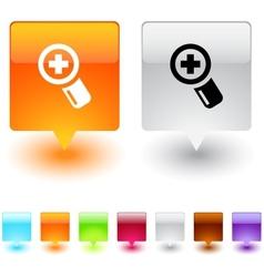 add square button vector image vector image