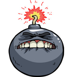 doodle bomb before the explosion vector image vector image
