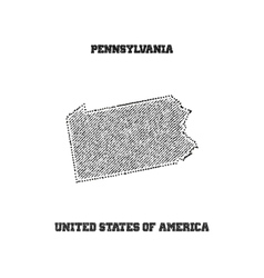 Label with map of pennsylvania vector image vector image