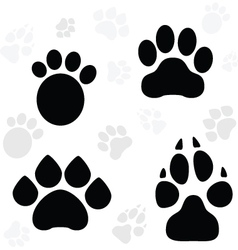 Paws and Claws Print vector image vector image