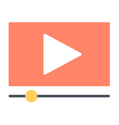 playing video silhouette icon vector image