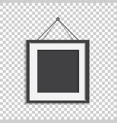 realistic photo frame isolated on isolated vector image