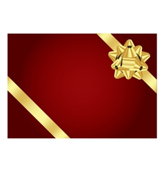 red background with gold bow vector image