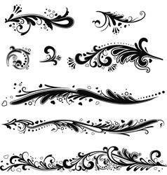 Set of patterns horizontal vector image vector image