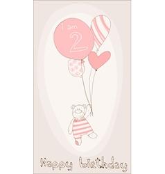 baby girl birthday card vector image