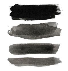 Big Black Blots Collection vector image vector image