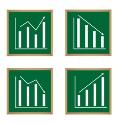 different graphs and charts vector image