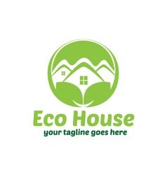 Eco House Green House Logo Design vector image
