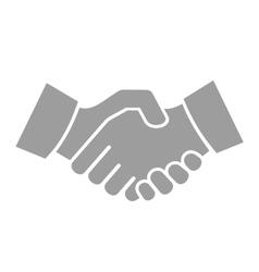 Handshake icon on white background vector