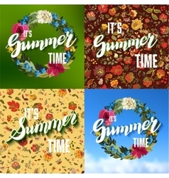Set of Colorful Bright Lettering Summer vector image vector image