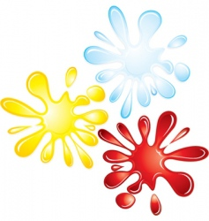 splash collection vector image