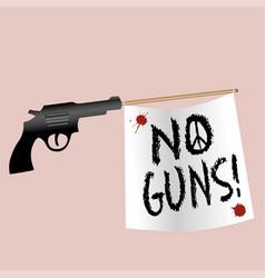 A gun shooting a no gun flag vector