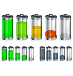 battery energy color vector image vector image