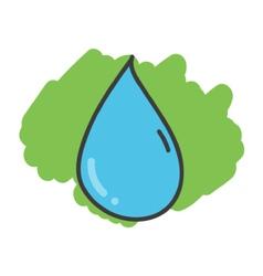 Cartoon doodle drop of water vector image
