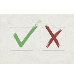 grunge check mark vector image vector image