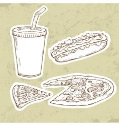 pizza v vector image vector image