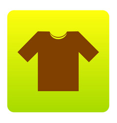 t-shirt sign brown icon at vector image