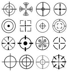 Aim target icons set vector