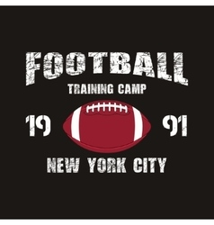 American football New York training camp badge vector image