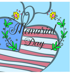 Art memorial day hand draw vector