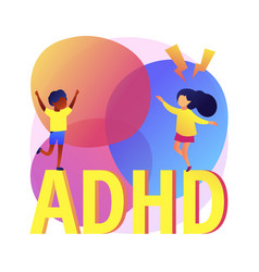 Attention deficit hyperactivity disorder abstract vector