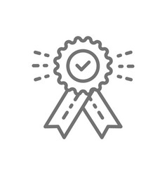award with check mark best choice quality vector image