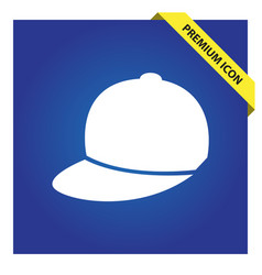 Baseball cap icon for web and mobile vector