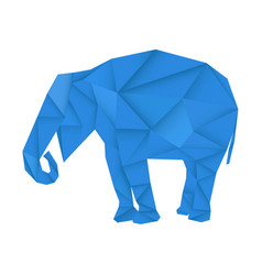 blue elephant polygonal vector image