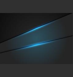 blue light effect on metallic hexagon mesh vector image