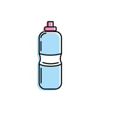 Bottle of water to reshness in the gym vector
