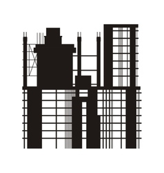 Building under construction icon vector