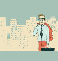 businessman in office clothes on the megapolis vector image