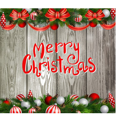 christmas decoration evergreen trees vector image