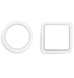 Circle and Square frame vector