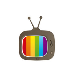 Color background with tv set vector